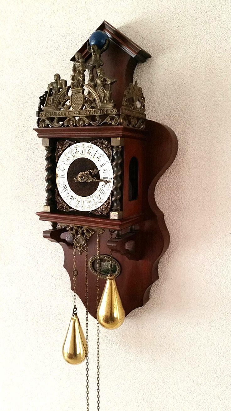 Large Wuba Warmink Zaanse Clock Antique Wall Clocks