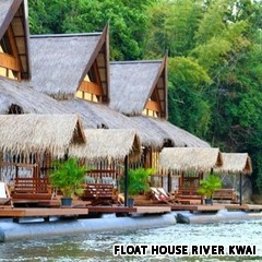 The Float House River Kwai: Kanchanaburi, Thailand. This looks fantastic!