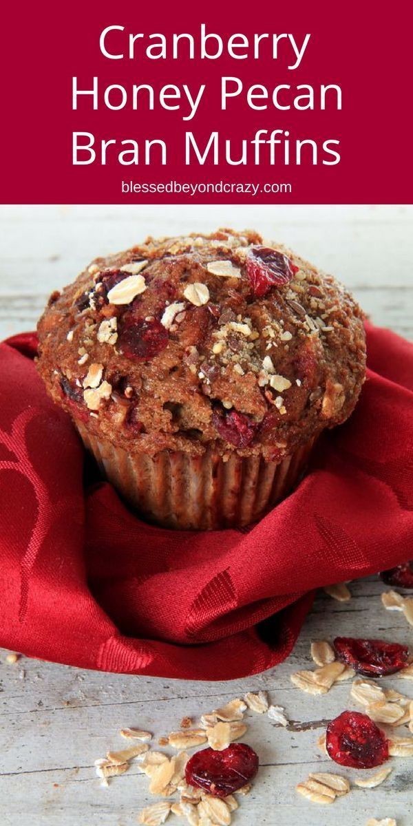 Cranberry Honey Pecan Bran Muffins