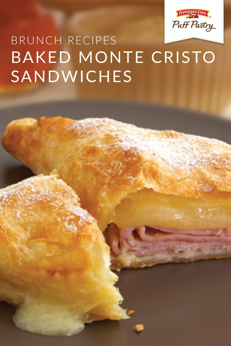There's nothing like the combination of sweet and savory flavors in this recipe for Baked Monte Cristo Sandwiches. You can make this classic brunch dish in just a few easy steps thanks to Pepperidge Farm® Puff Pastry Sheets. Click here to learn how.