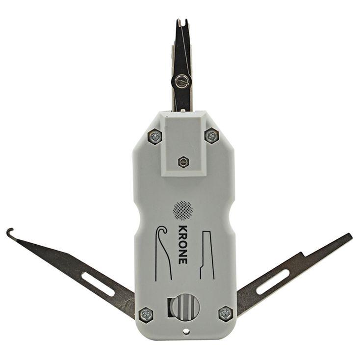 Hoge Kwaliteit KRONE Kabelgereedschap Kit met Sensor voor Ethernet LAN Netwerk Cat5 RJ45 Telecom Telefoon Draad RJ11 Kabel Netwerk Tool