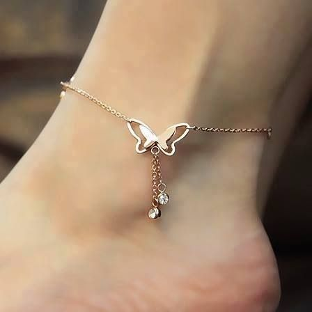 Elegant butterfly bracelet/ ankle chain.