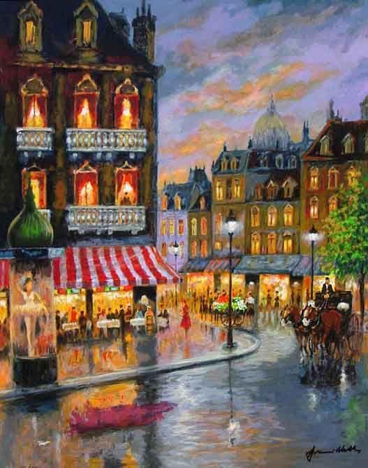 Painting by Americo Makk: Summer Leisure