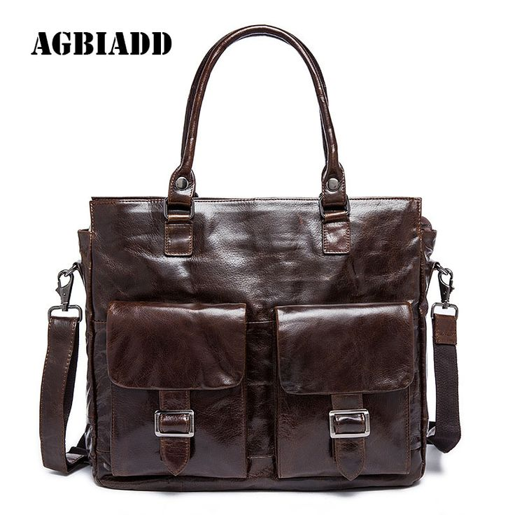 Leather Portfolio Bag Men Genuine Leather Briefcase Shoulder Pasta Executiva Masculino Document Briefcase Mens Office Bags 471