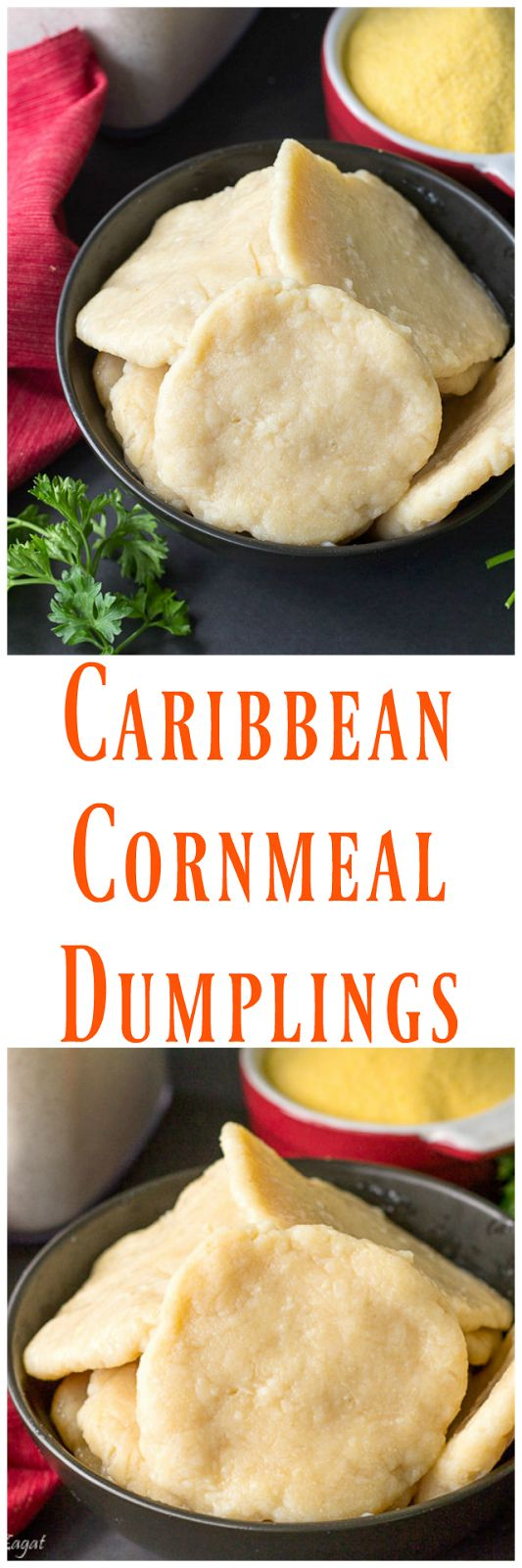 This is a simple recipe for making cornmeal dumplings (boiled) as it is traditionally done in the Caribbean