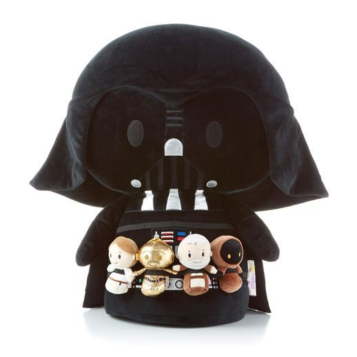 Jumbo itty bittys® DARTH VADER™ Stuffed plush.  Can hold 4 itty bittys captive with attached elastic.  price: $140.00