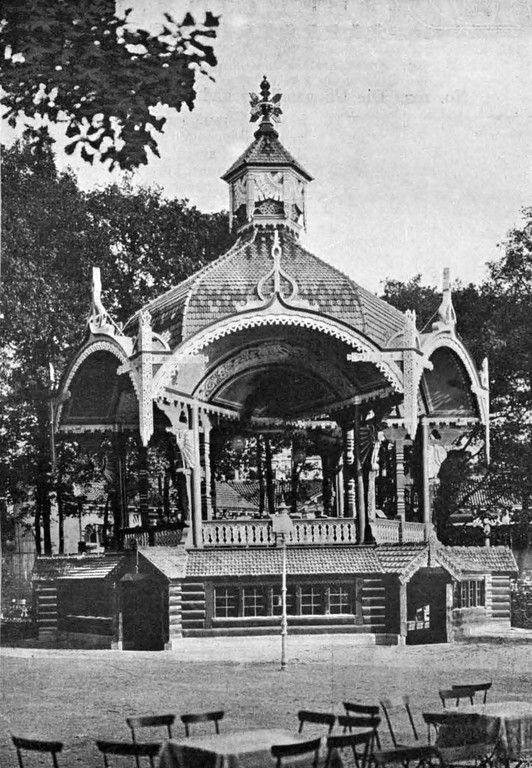 Berlin, Der Russische Pavillon mit Bierausschank von Zaar & Vahl im Zoologischen Garten, 1902.