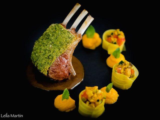 Carré d'agneau en croûte d'herbes et saveurs orientales – je vais vous cuisiner