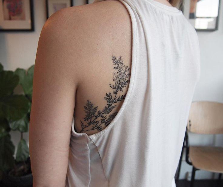 Jenny's healed lilacs peeking out  #floraltattoos #backformore