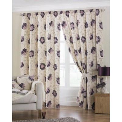 Membury Ready Made Curtains Aubergine