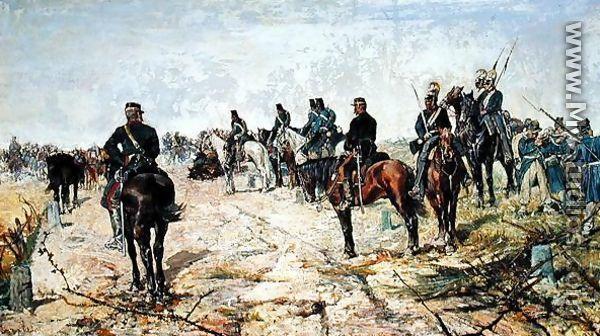 The Battle Lines, 1884 - Giovanni Fattori