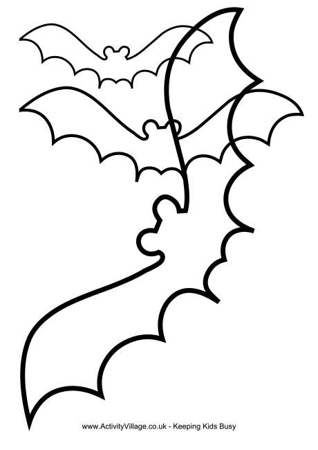 Our Bat Templates Are Useful For Halloween Crafts. Why Not Use Them To Make  Our Halloween Moon Mobile.