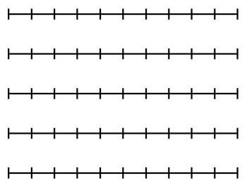 number lin activities for kindergarten | Blank Number Line (for any activity):