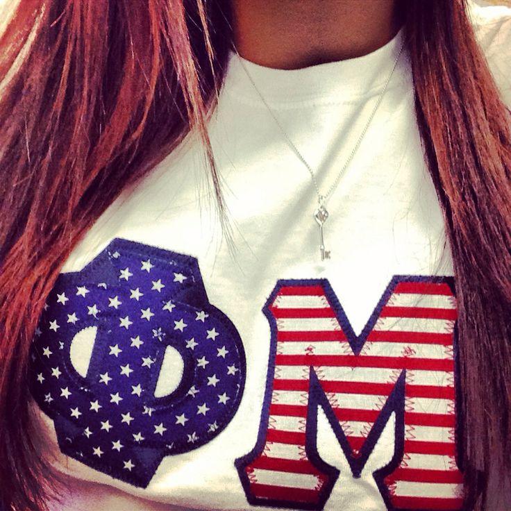 Phi Mu letters. #PhiMu #MERICA