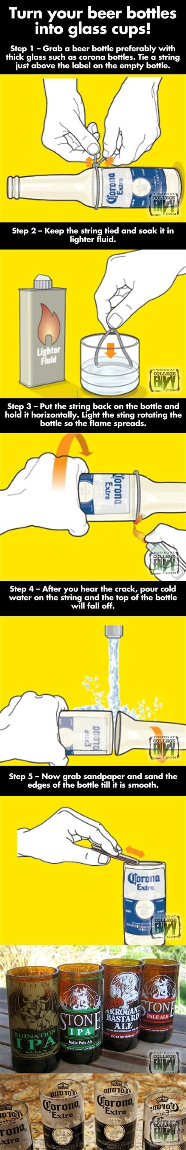 How to break a glass bottle and other crafty ideas