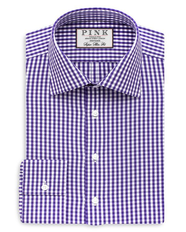 Thomas Pink Trueman Check Slim Fit Dress Shirt