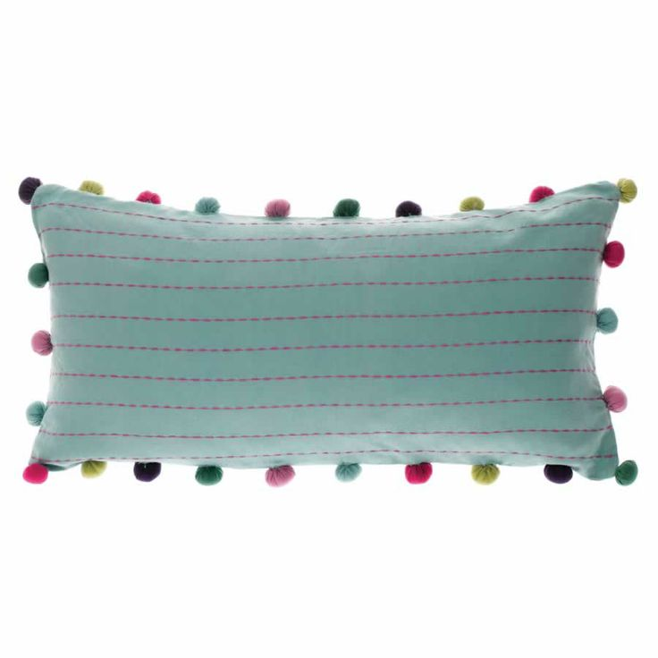 Jane from Bluebellgray.com. A Scottish textile design company. Jane features a delicate horizontal stripe in fuchsia for a striking contrast. Pom poms around the edge in teal and fuschia, tie the colour-scheme together for a youthful yet sophisticated finish. Jane's colour palette perfectly complements the bluebellgray collections from Absract to Taransay. Mix and match a variety of pieces, tied together with a signature colour, for a unique and sophisticated look.