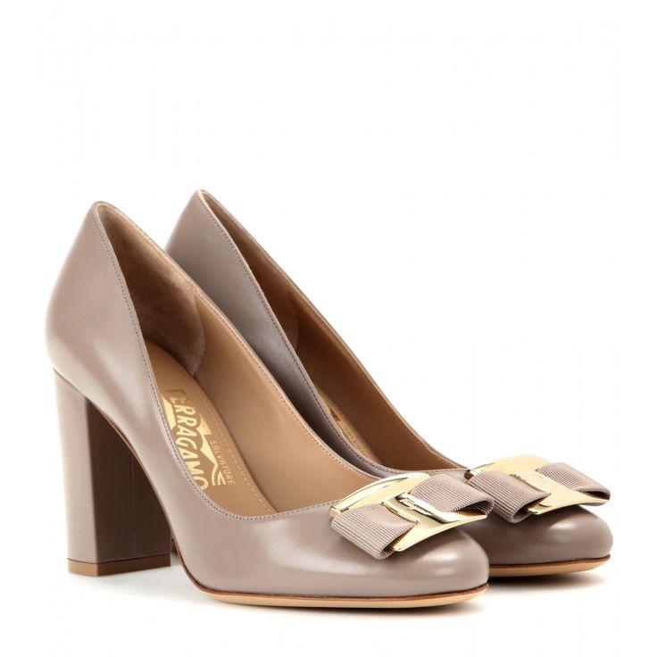 Salvatore Ferragamo - Ninna leather pumps - The soft neutral hue will work  effortlessly into your af817d4ef6