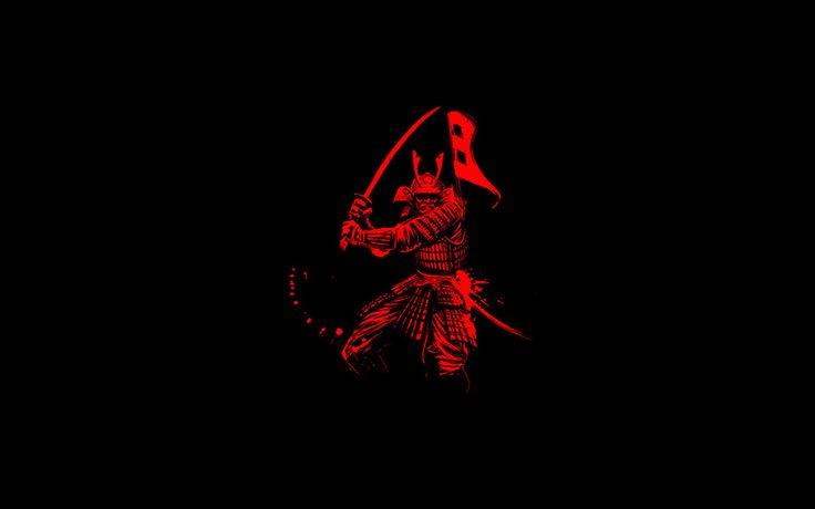 самурай, воин, фон, катана