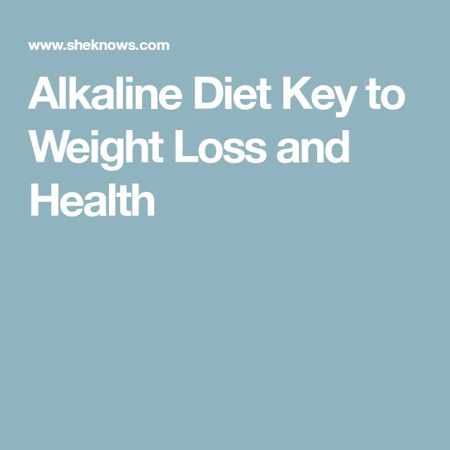 Alkaline Diet Key to Weight Loss and Health