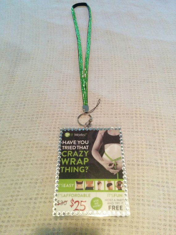 Green It Works Blitz Card Lanyard by LoveGrowSucceed on Etsy