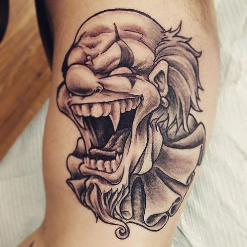 33 Best Wiked And Crazy Clowns Tattoos Images On Pinterest
