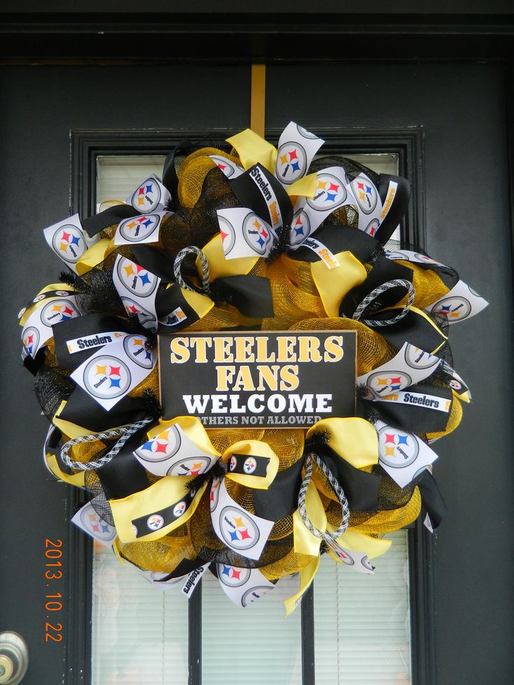 Steelers Deco Mesh Wreath