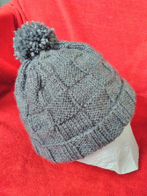 Gorro crochet de color gris, gorro para hombre o mujer, gorro de lana de BabyPinkCandy en Etsy