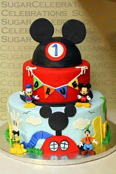 mickey mouse clubhouse 1st birthday cake - Google Search