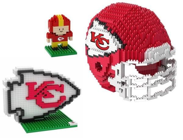 Kansas City Chiefs NFL 3D BRXLZ Puzzle Collector's Set (SHIPS IN NOVEMBER)
