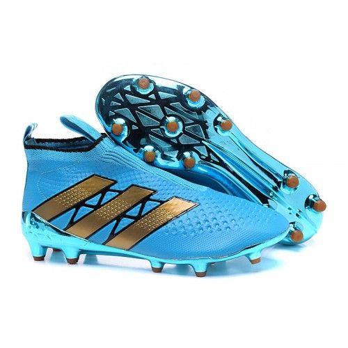 Comprar 2016 Adidas Ace16+ Purecontrol FG-AG Botas De Futbol Azul Oroen Baratas