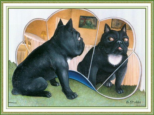 Dogs III. Artwork by Beryl Cook