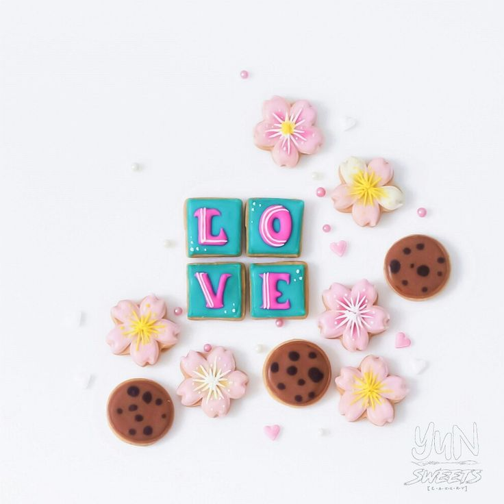 Love, cookies and flowers