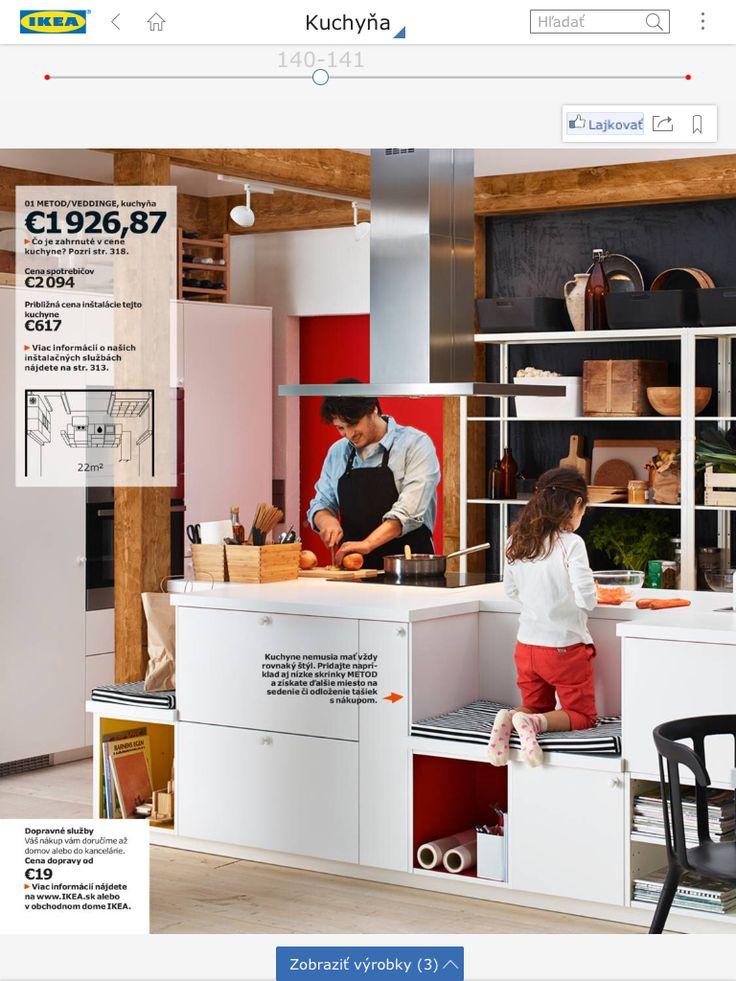 Zaujímavé usporiadanie kuchyne IKEA