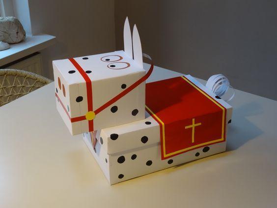 Amerigo van Sinterklaas! Makkelijke surprise, gemaakt uit dozen....: