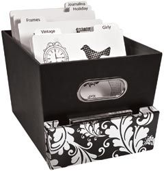 Rubber Stamp storage idea for unmounted stamps to be organized and ready to undulge me in my papercrafts creativity.