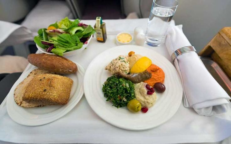 Airline meal first-class