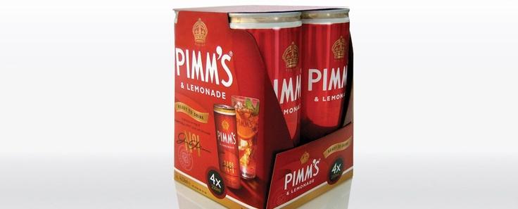 Pimm's and lemonade packaging
