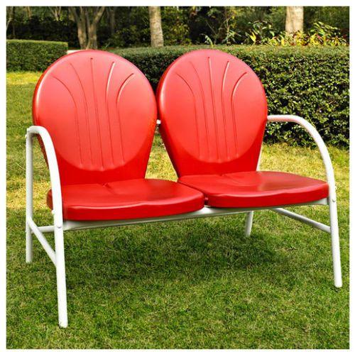 Vintage Retro Metal Lawn Chair Mid Century 2 Seater Patio Chair Outdoor  Furnitur