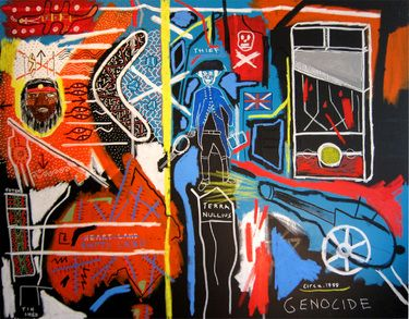 "Saatchi Online Artist Cameron Holmes; Painting, ""1788  (terra nullius)"" #art"