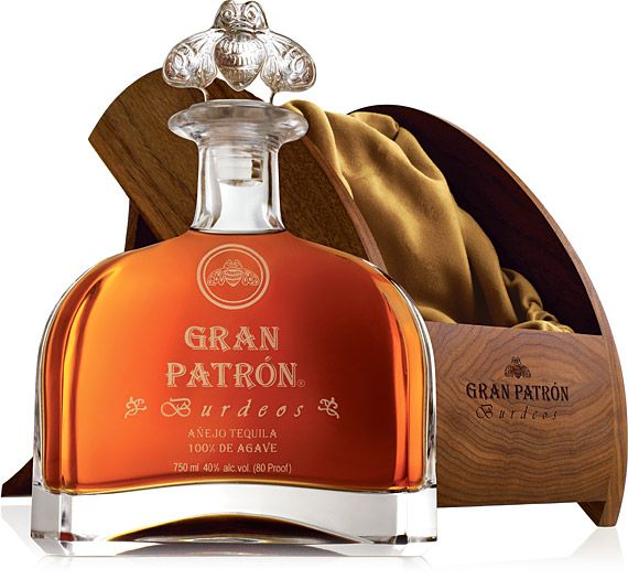 If you're ready to take your celebratory boozing to the next level, Gran Patrón Burdeos Tequila ($740) is just the stuff. Distilled from the finest blue agave, this ultra-premium dark tequila is matured in a blend of American and French oak barrels and aged for a minimum of 12 months. It's then distilled again in vintage Bordeaux barrels from France. Each unleaded crystal bottle comes in a black walnut box with a special corkscrew and a crystal bee stopper.