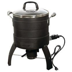 Oil-Free Electric Turkey Fryer and Roaster  Cooks turkeys up to 18 pounds Built-in wood chip box – For that great smokehouse flavor! http://turkeyroasters.org