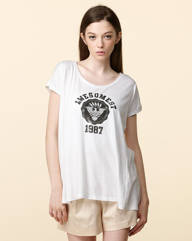 ROSEBULLET ホワイトAラインTシャツ