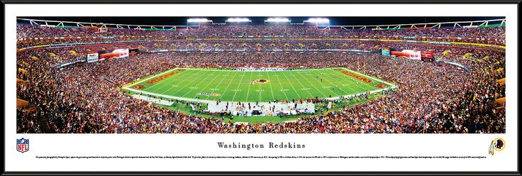 Washington Redskins Panoramic - Fedex Field Picture Framed