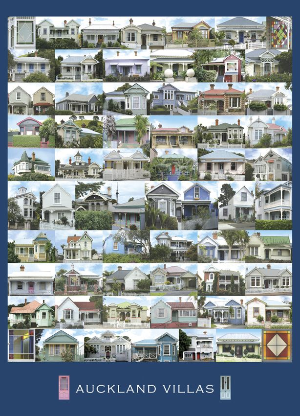 Auckland Villas, New Zealand by Nathan Secker. Art-print and note card available from imagevault.co.nz
