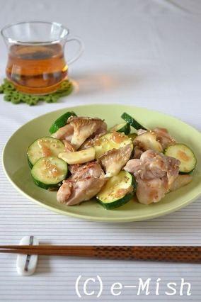鶏肉とズッキーニの梅風味焼き|レシピブログ