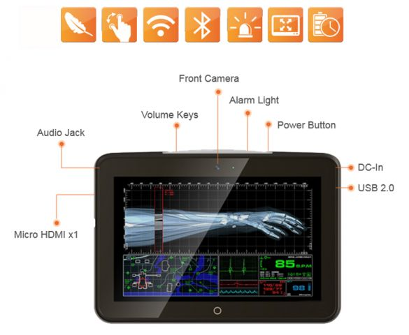 Firstsing Portable 10.1 Inch Z8350 Rugged Medical Tablet PC Wifi Bluetooth that Support Intensive Care Services Launched