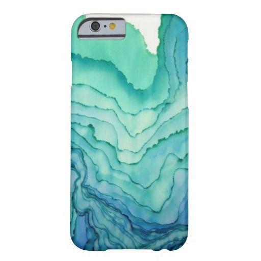 love this aqua watercolor iPhone 6 case - it looks like wood grain #iphone6case #watercolor
