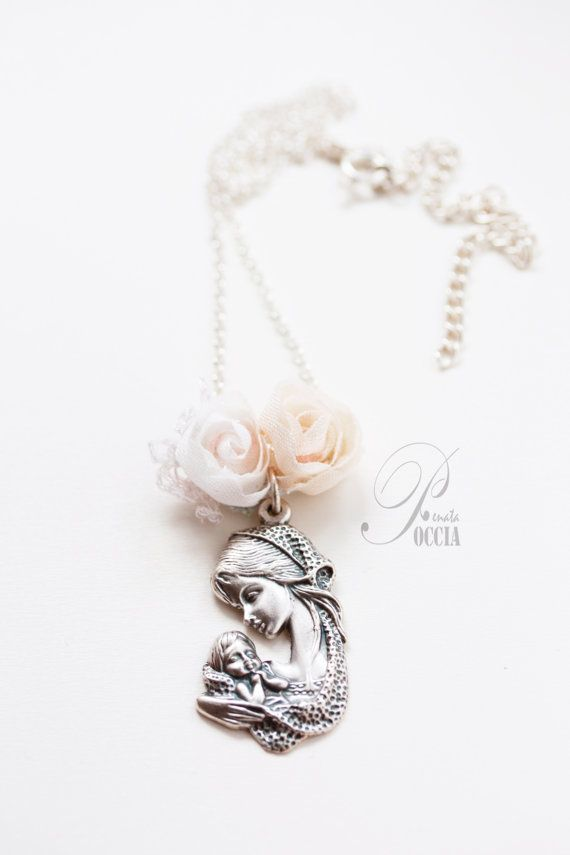 Baby girl baptism necklace $32.00