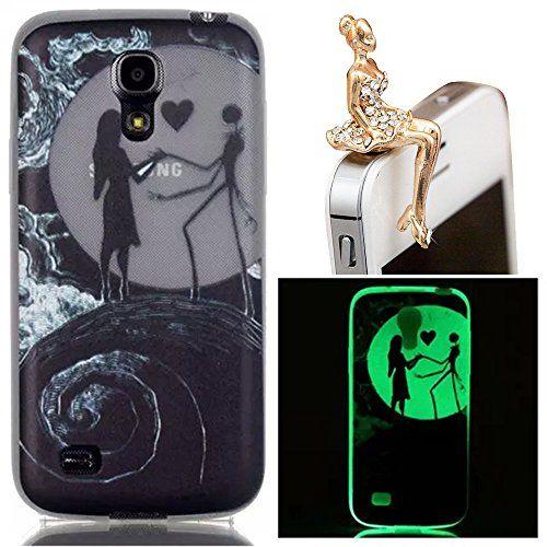 Sunroyal® Noctilucent Coque pour Samsung Galaxy Grand Plus Souple Transparent Case Cover de Protection TPU Gel Housse Etui Bling Clair…